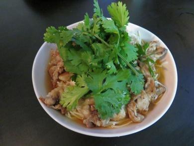 パクチー素麺